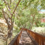 Walkway following Fremont Petroglyph Panel near Visitor Center