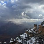 Winter Snowstorm Moves in Over Yaki Point | Photo by Mike Buchheit
