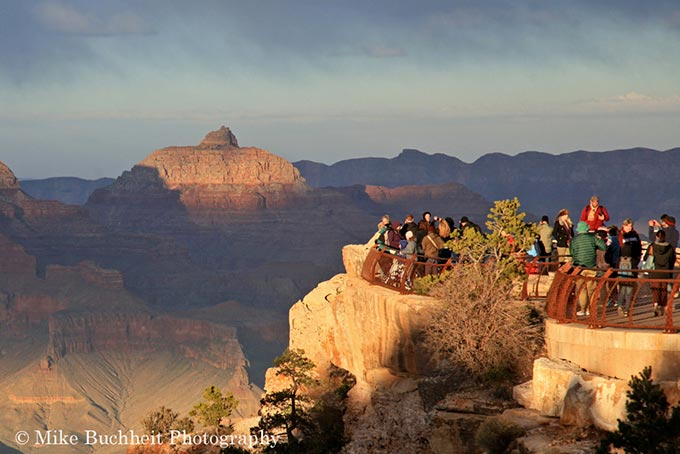 Grand Canyon Visitors at Mather Point | Photo by Mike Buchheit