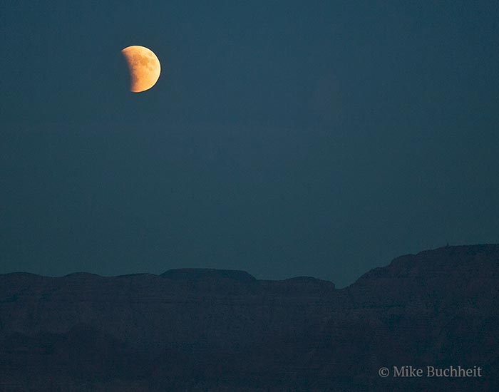 Supermoon Lunar Eclipse over Grand Canyon - 2015 | Photo by Mike Buchheit