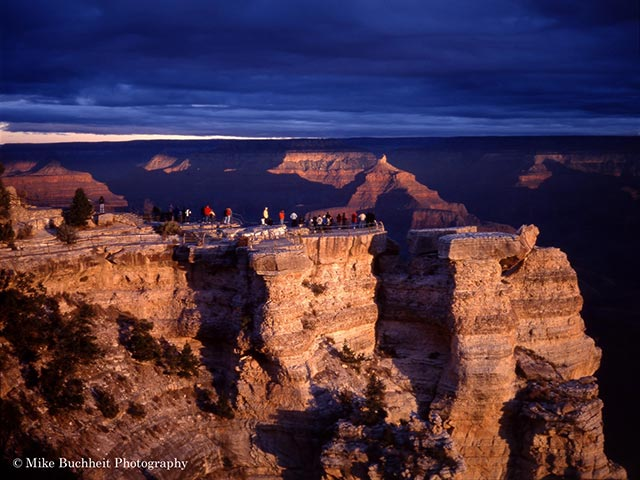 Visitors at Mather Point | Photo by Mike Buchheit