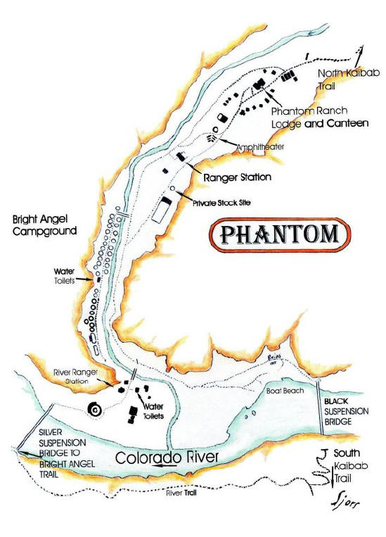 Phantom Ranch Area Map | Hit the Trail at Grand Canyon