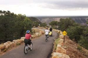 Riding along the Rim Trail | Photo by Bright Angel Bicycles