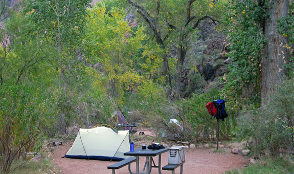 Bright Angel Campsite | Photo courtesy of Grand Canyon National Park - by Mike Quinn