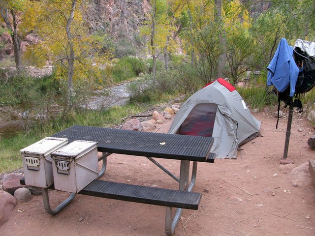 Campsite | Photo courtesy of Grand Canyon National Park - by Mike Quinn