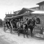 Historic photo taken in front of El Tovar Hotel | Photo courtesy of Grand Canyon National Park