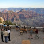 North Rim Lodge's patio | Photo courtesy of Grand Canyon National Park - by Mike Quinn