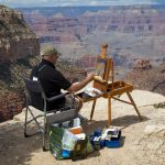 Artist on the rim | Photo by Mike Buchheit