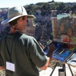 Artist paints on South Rim | Photo by Mike Buchheit
