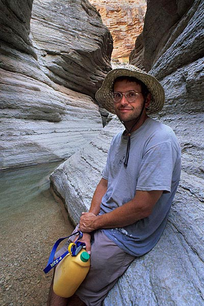 Dr. Tom Myers in Matkatamiba Canyon, Grand Canyon