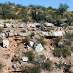"The Verde Formation is variable in outcrop with white limestone ledges representing high stands of the Verde Lake and brown mudstone slopes representing low-stands of the lake that allowed muddy sediment from rivers to cover the limestone. From page 114 of ""Sedona Through Time"" 2nd ed., 2010 © Wayne Ranney"
