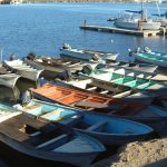 Pangas (fishing boats) at Santa Rosalía, Baja California Sur