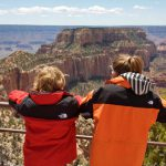 Children looking out from the North Rim | Photo by Mike Buchheit