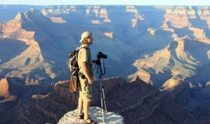 Larry Lindahl taking photos at Grand Canyon | Photo by Mike Buchheit