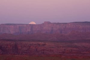 Moon rise over Glen Canyon | Photo by Gary Ladd