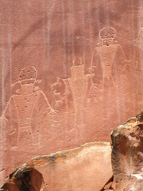 Fremont Petroglyph Panel near Visitor Center