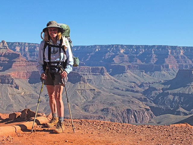 Denise on the South Kaibab Trail