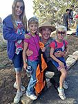 Superintendent Dave Uberuaga and Children at Grand Canyon | Photo by Mike Buchheit