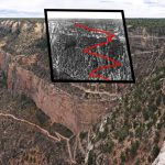 Old Cameron Trail overlay with current Bright Angel Trail