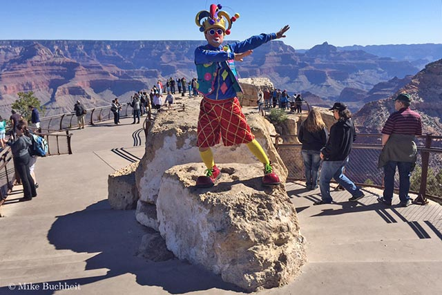 Jester provides entertainment beyond the views at the South Rim | Photo by Mike Buchheit
