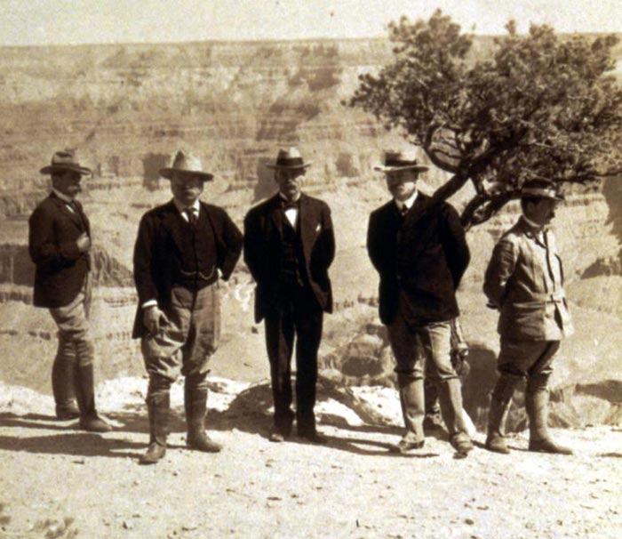 Teddy Roosevelt on the Grand Canyon Rim