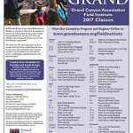 Grand Canyon Association's 2017 Rollout Underway