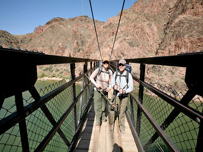 Hikers on the Black Bridge | Photo by Mike Buchheit