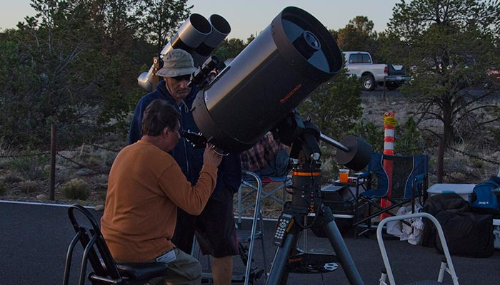 Star Party telescopes | NPS Photo by Mike Quinn