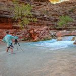 Mike capturing the beauty of Havasu Creek | Photo by Zina Mirsky