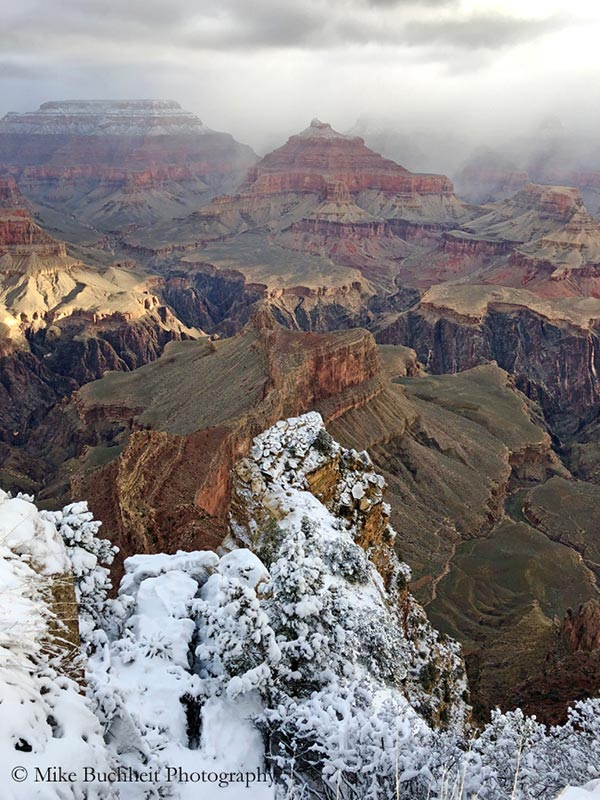 Winter storm blankets Grand Canyon | Photo by Mike Buchheit
