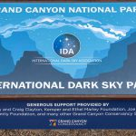 Grand Canyon National Park: 2019 International Dark Sky Park Plaque | NPS Photo by Mike Quinn, Graphic by Tyler Nordgren
