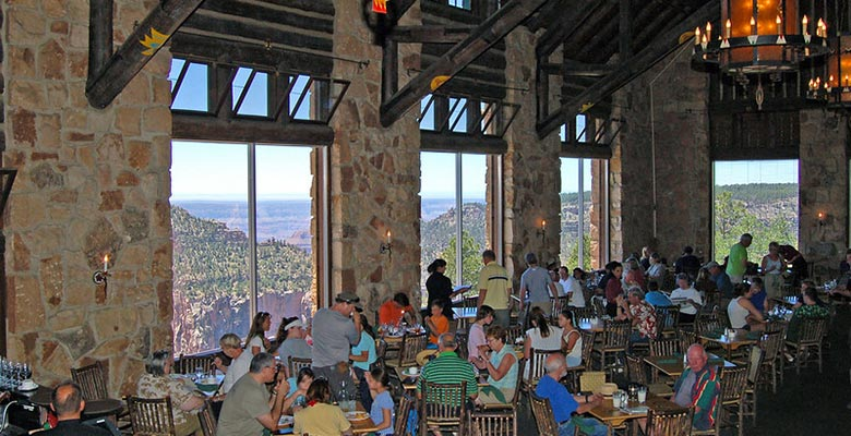 Grand Canyon Lodge Dining Room | North Rim Campground | NPS Photo by Michael Quinn