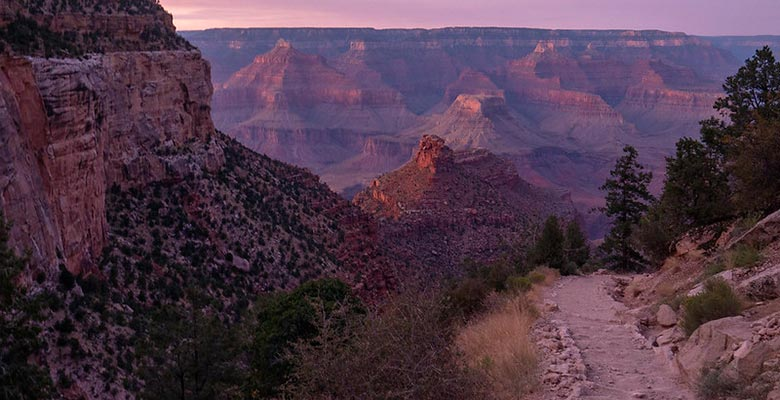 Pink Sunset from Bright Angel Trail | NPS Photo by Michael Quinn