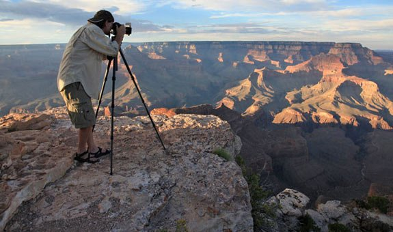 Larry Lindahl at Grand Canyon | Photo by Mike Buchheit