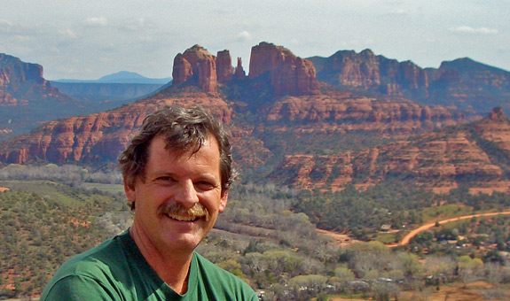 Wayne Ranney above Sedona, Arizona